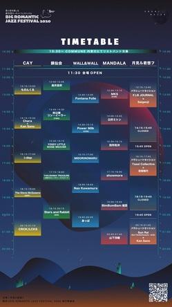 『BIG ROMANTIC JAZZ FESTIVAL 2020』タイムテーブル