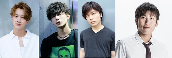 (左から)森英寿、近澤智、大野紘幸、町田達彦