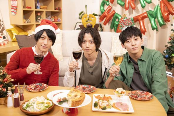 WOWOW「2.5次元男子推しTV」シーズン4、第3回のゲストは高橋健介と牧島輝!番組MC鈴木拡樹とともに3人でパーティーを開催! (1)