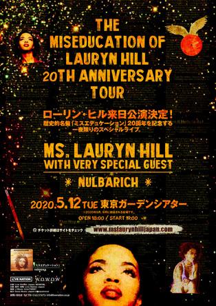 ローリン・ヒル、歴史的名盤「ミスエデュケーション」20周年でアルバムの全曲を披露する特別な来日公演決定!SPゲストにNulbarichも