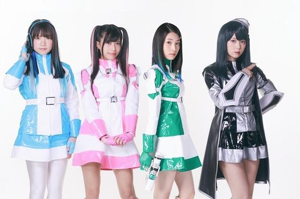 (左から)石塚汐花(シータ)、鷲見友美ジェナ(ミサ)、朝倉ふゆな(ジウ)、篠崎こころ(ヘーゼル)