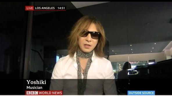 YOSHIKI 英BBCワールドニュースに生出演 1億人以上の視聴者に向け現状を語った (1)