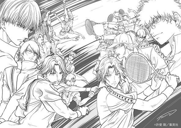 『新テニスの王⼦様 氷帝vs ⽴海 Game of Future』許斐剛描き下ろしイラスト