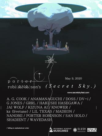 「Secret Sky Music Festival」ポスター