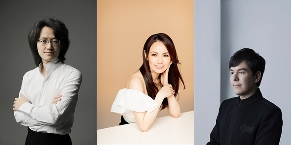 左から鈴木優人 ((C)Marco Borggreve)、森麻季((C)Yuji Hori)、金子三勇士((C)Ayako Yamamoto)