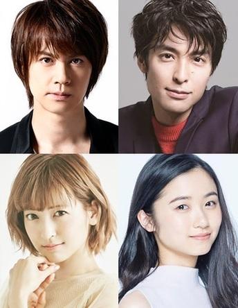 (上段左から)浦井健治・海宝直人、(下段左から)神田沙也加・木下晴香