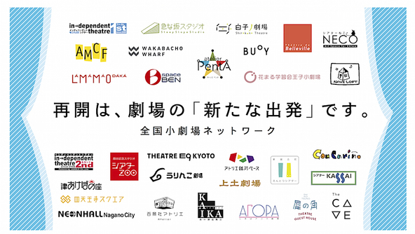 名古屋「ナビロフト」など全国小劇場の厳しい現況と、それを支える再開支援プロジェクト~再び、生の舞台が観られる日のために (c)<全国小劇場ネットワーク〉ロゴ