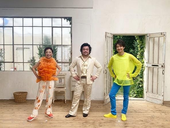 (左から)クミコ、パパイヤ鈴木、井上芳雄