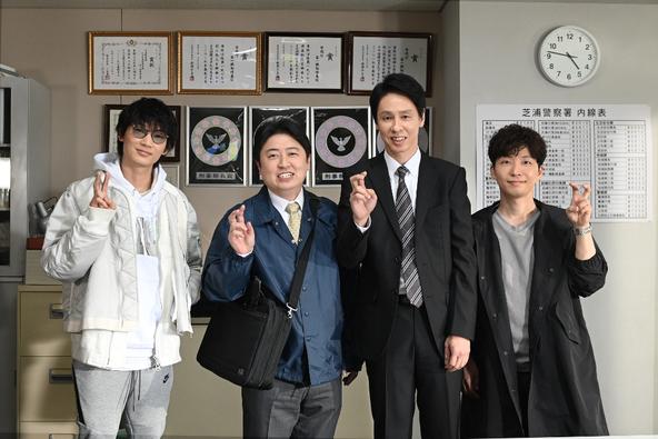 金曜ドラマ「MIU404」綾野剛、星野源、大倉孝二、吉田ウーロン太 (c)TBS