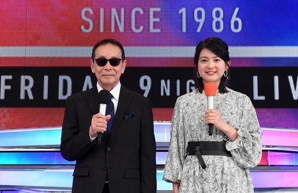 「ミュージックステーション」タモリ、並木万里菜(テレビ朝日アナウンサー) (c)テレビ朝日