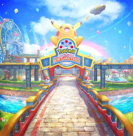 バーチャル遊園地『ポケモンバーチャルフェスト』※画面は開発中のものです。 (C)2020 Pokemon. (C)1995-2020 Nintendo/Creatures Inc. /GAME FREAK inc. (C) 2017 Cluster, Inc.