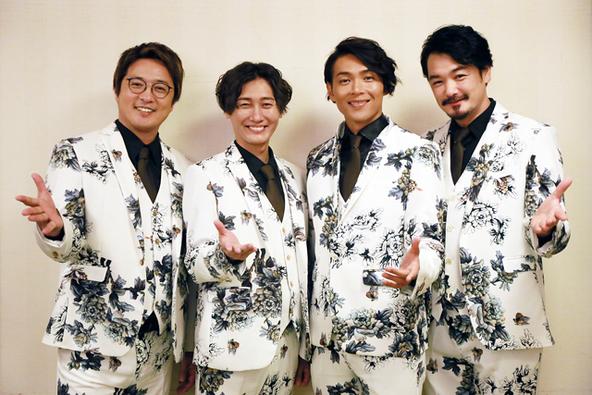 純烈 左から、酒井一圭、後上翔太、白川裕二郎、小田井涼平