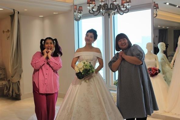 「人生観が変わりました!」人気急上昇中・3時のヒロイン 福田 麻貴さんがウェディングドレス試着に人生初挑戦!! (1)