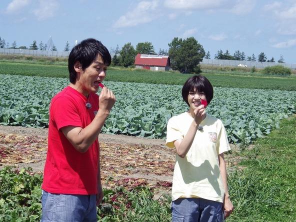 『あぐり王国北海道NEXT』赤い!生のレッドビートのお味は…!? (c)HBC