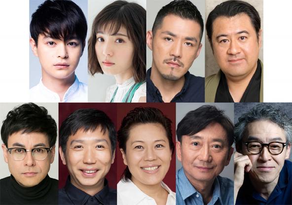 (上段左から) 瀬戸康史、松岡茉優、吉原光夫、小手伸也 (下段左から) 鈴木浩介、梶原善、青木さやか、山崎一、浅野和之