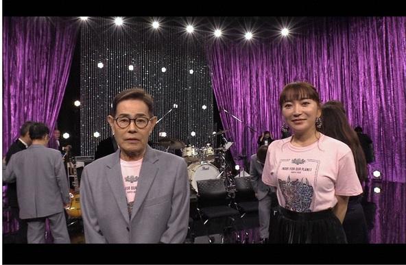 「人生が変わる1分間の深イイ話」加藤茶&綾菜夫妻 (c)NTV