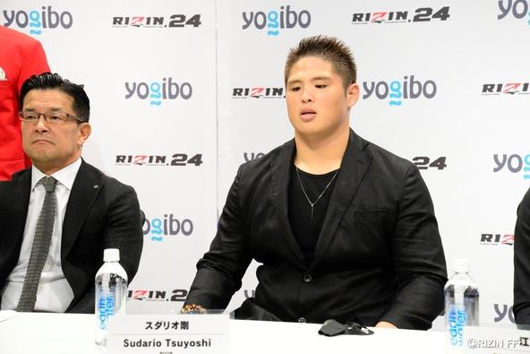 元大相撲 関取の貴ノ富士が、スダリオ剛を名乗って『Yogibo presents RIZIN.24』に参戦