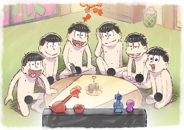 「おそ松さん」第3期全裸待機ビジュアル(全裸) (C)赤塚不二夫/おそ松さん製作委員会