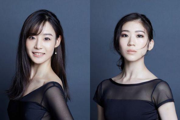 (左)池田理沙子 (右)柴山紗帆