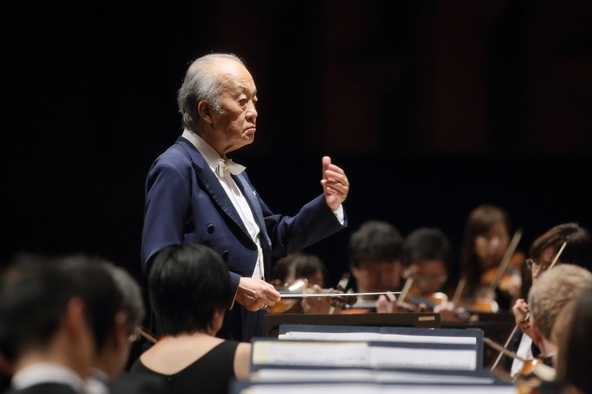 今年4月に大阪交響楽団名誉指揮者に就任した巨匠 外山雄三    (C)飯島隆