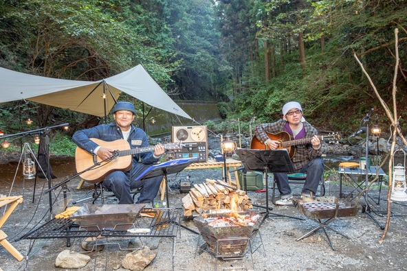 奥田民生の特別番組、スペシャで放送決定!奥多摩のキャンプ場からBBQセッションをお届け!山口智充と共作による新曲も!? (1)