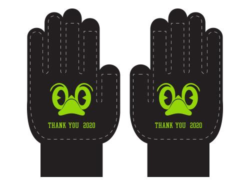 東京ヤクルトスワローズのホーム最終戦でプレゼントされる「応燕感謝手袋」