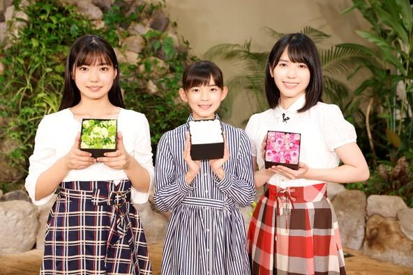 アンジュルム新メンバー(左より川名凛、松本わかな、為永幸音)