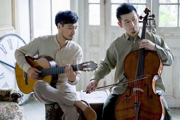 (左から)大萩康司(ギター)、宮田大(チェロ)