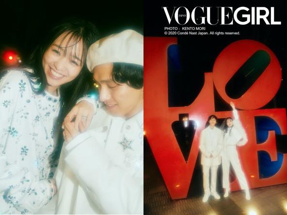 『VOGUE GIRL』の人気企画「GIRL OF THE MONTH」に、横田真悠と見津賢が登場! スペシャルに輝く、ふたりだけの真夜中のウエディング。 (1)