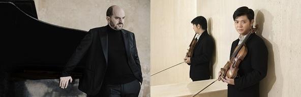 (左から)キリル・ゲルシュタイン(C)Marco Borggreve、樫本大進(c)Keita Osada (Ossa Mondo A&D)