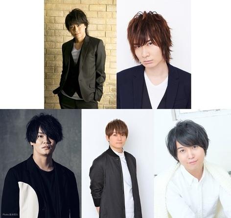 上段左から、浪川大輔・前野智昭/下段左から、細谷佳正・天﨑滉平・斉藤壮馬