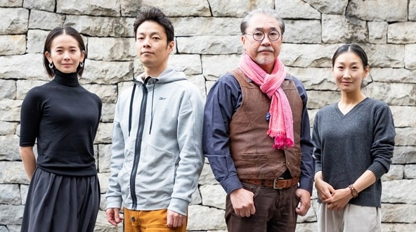 『斬られの仙太』出演者 (左から)陽月 華、伊達 暁、青山 勝、浅野令子 (c) 撮影:田中亜紀