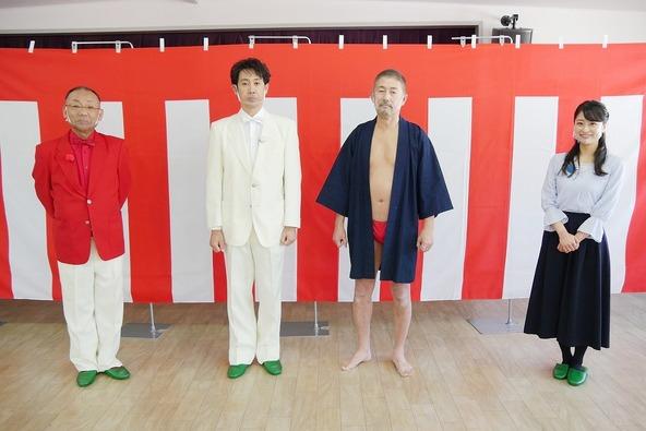 『1×8いこうよ!』大泉洋、木村洋二(YOYO'S),村雨美紀(STVアナウンサー)、土橋二郎さん (c)STV