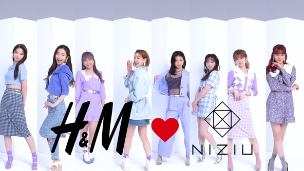 H&Mの2021年春夏キャンペーン『H&M Loves NiziU』メイキングやインタビューを収録したスペシャル動画を本日より公開 (1)