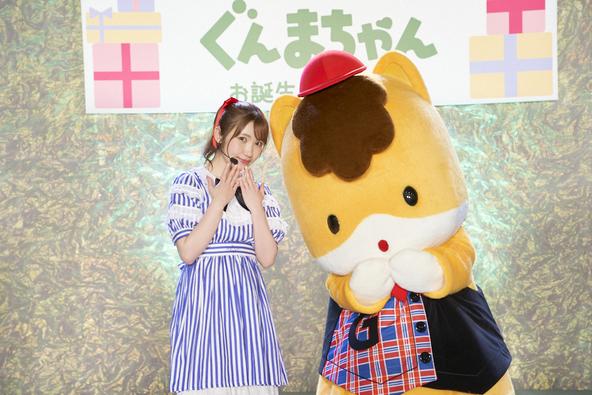 内田彩×ぐんまちゃんの新曲「∞リボンをギュッと∞」本日リリース!ぐんまちゃんお誕生日会で初披露 (1)